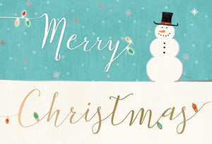 Merry Christmas Snowman - Christmas Card