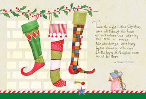 Stockings and Mouse - Christmas Card