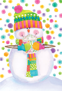 Snowman with Hat and Scarf- Christmas Card