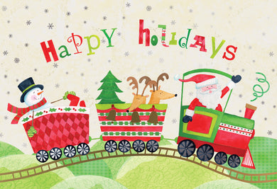 Happy Holidays Train - Christmas Card