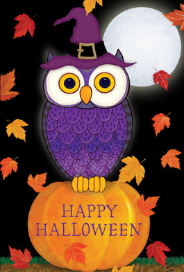 Autumn Night Owl Halloween Card