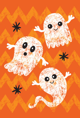 Trio Of Ghosts a boo-tiful Halloween Halloween Card