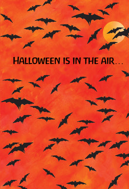 Flight Of Bats Halloween Card