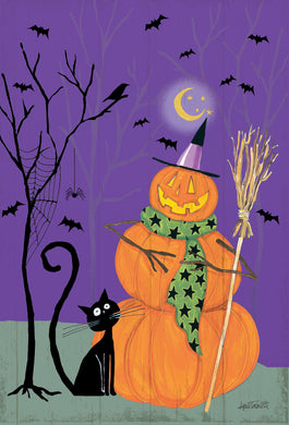 Jack Stack & Black Cat purr-fectly wicked Halloween Card