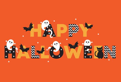 Happy Ghosts Halloween Card