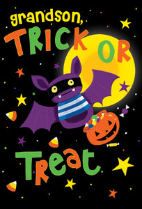 Trick or Treat Grandson Halloween Card