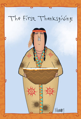 The first thanksgiving - Thanksgiving card