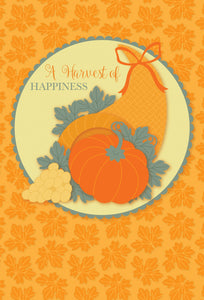 A Harvest of Happiness - Thanksgiving card