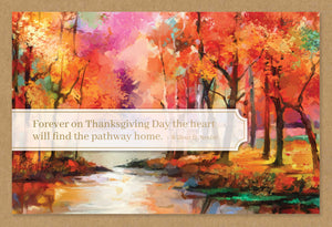 Forever on Thanksgiving Day - Thanksgiving card