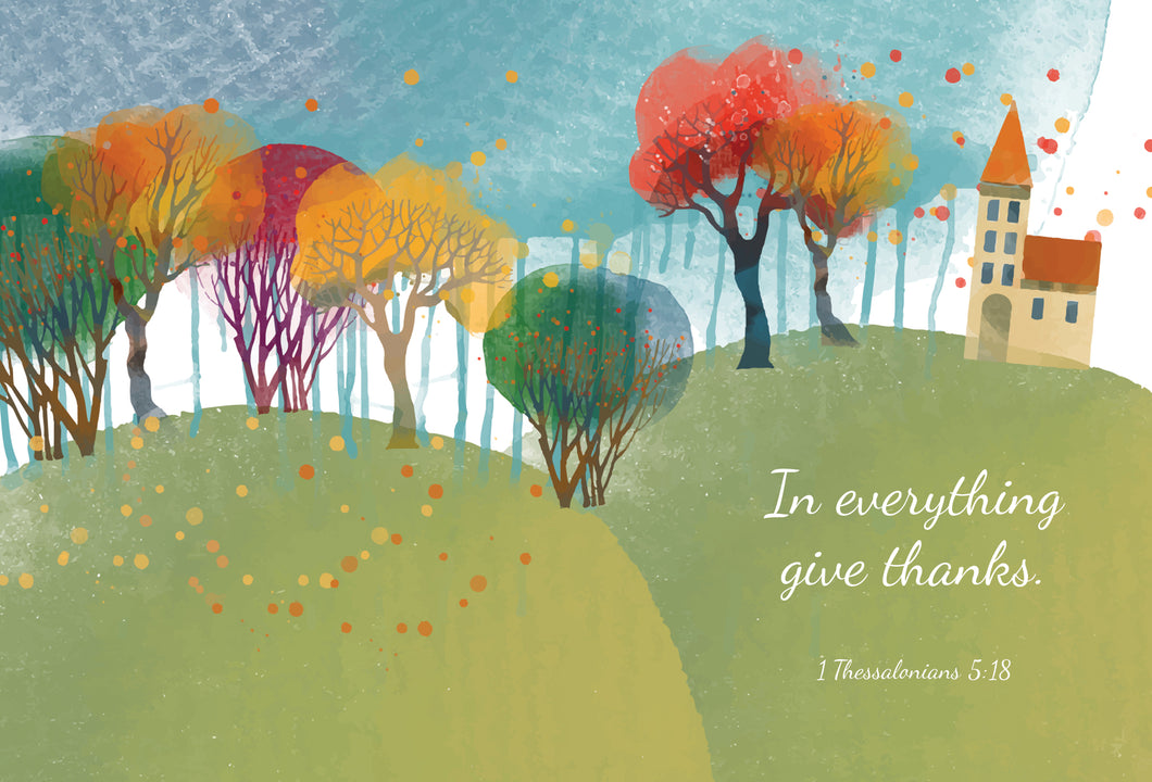 1 Thessalonians 5:18 - Thanksgiving card