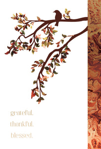 Grateful. Thankful. Blessed - Thanksgiving card