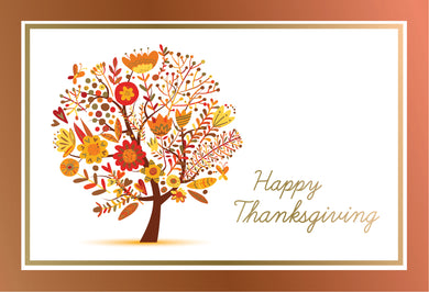 Autumn's Glow - Thanksgiving card