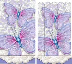 Purple Butterfly Emery board - Sienna's Garden