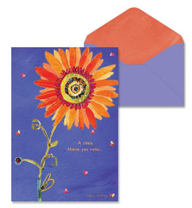Orange Flower Thank You Note Cards