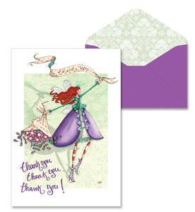 Bouquet Thank You 8 Packaged Note Cards