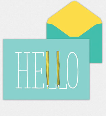 Hello Blank Notes Cards 8 cards