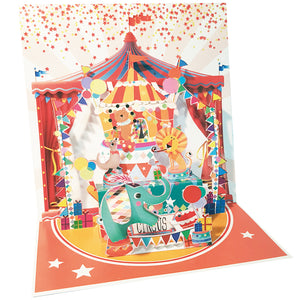 Circus Pop-up Grande 3D Card