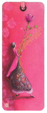 Pink Flower Bookmark Gaëlle Boissonnard