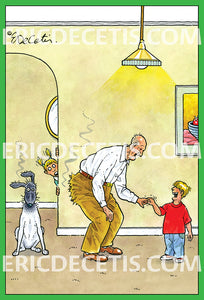 Old Man Pull Finger Fart Dog Birthday Card Eric Decetis 30424