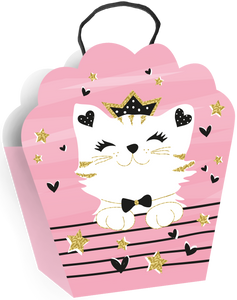 Cat on Pink Background Medium Gift Bag