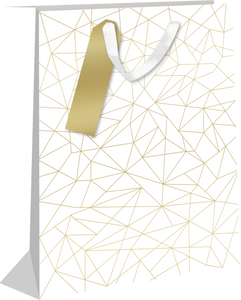 Gold Linear Prisms Large Gift Bag