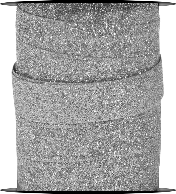 Silver Glitter Curling Ribbon Spool