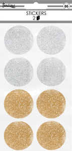 Silver & Gold Circles Stickers