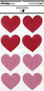 Red & Pink Hearts Stickers