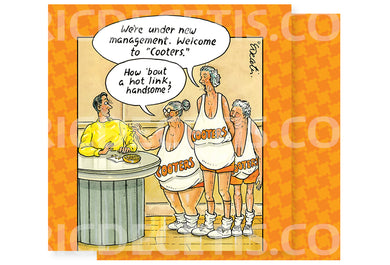 Eric Decetis Napkin Orange Cooters - Cardmore