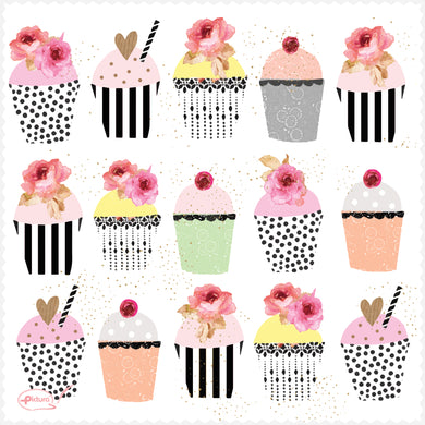 Cupcakes Sara Miller Smart Cloth