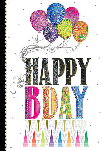 Birthday Card Happy Birthday Balloons Two Twenty Two - Cardmore