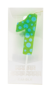 1 Colorful Decal Number Candle