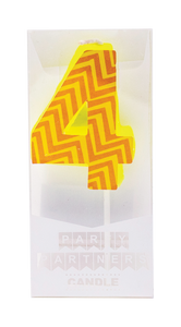 4 Colorful Decal Number Candle