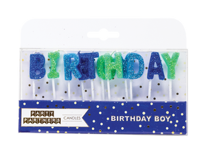 Birthday Boy Candle Set