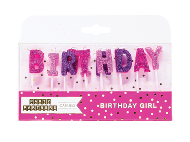Birthday Girl Candle Set