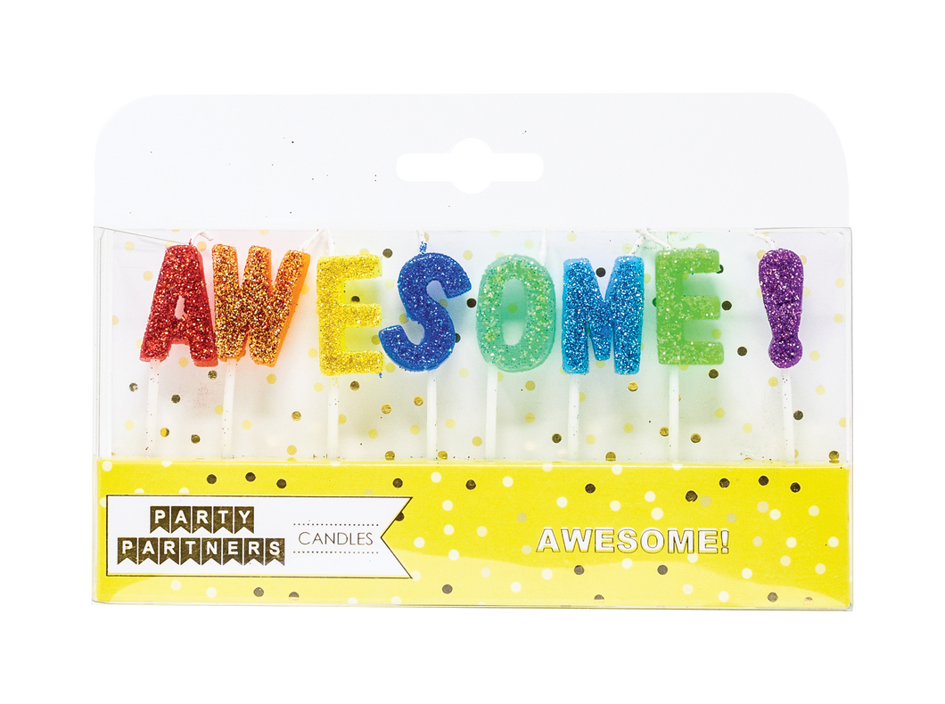 Awesome letter Candle Set Party Partners
