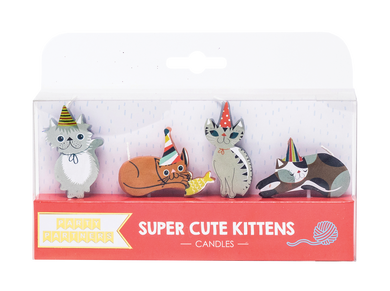 Super Cute Kitten Decal Candles