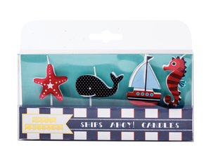 Ships Ahoy Decal Candles