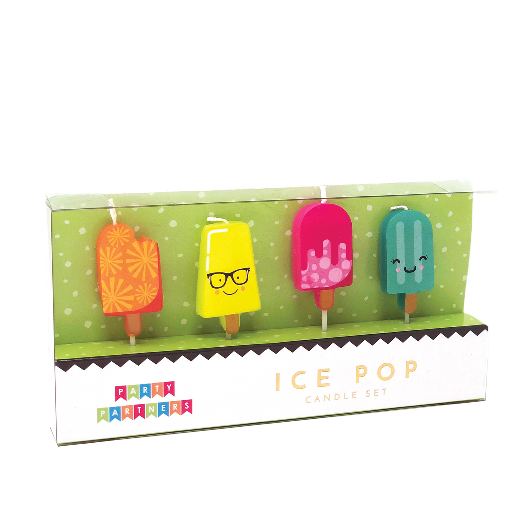 Ice Pop Decal Candles Party Partners