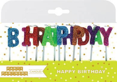 Happy Birthday Letter Candle Set Party Partners