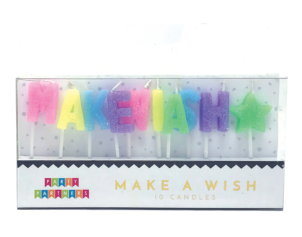 Make a wish Letter Candle Set Party Partners