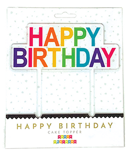 Reusable Happy Birthday Acrylic Cake Topper Party Partners