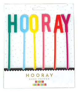 Reusable Hooray Acrylic Cake Topper Party Partners