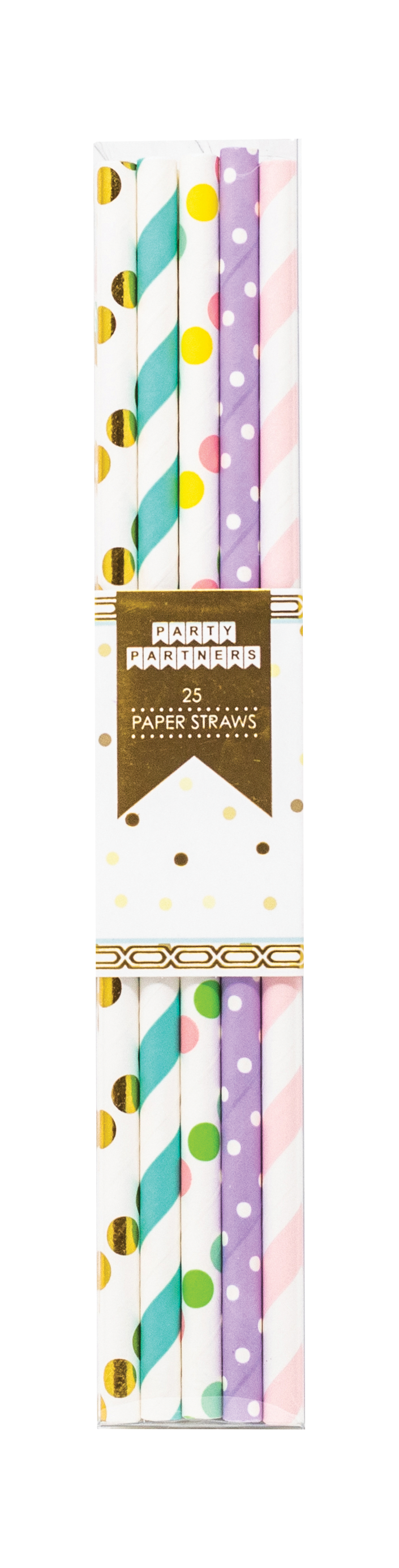 100% recyclable Dots and Stripes Paper Straws Party Partners