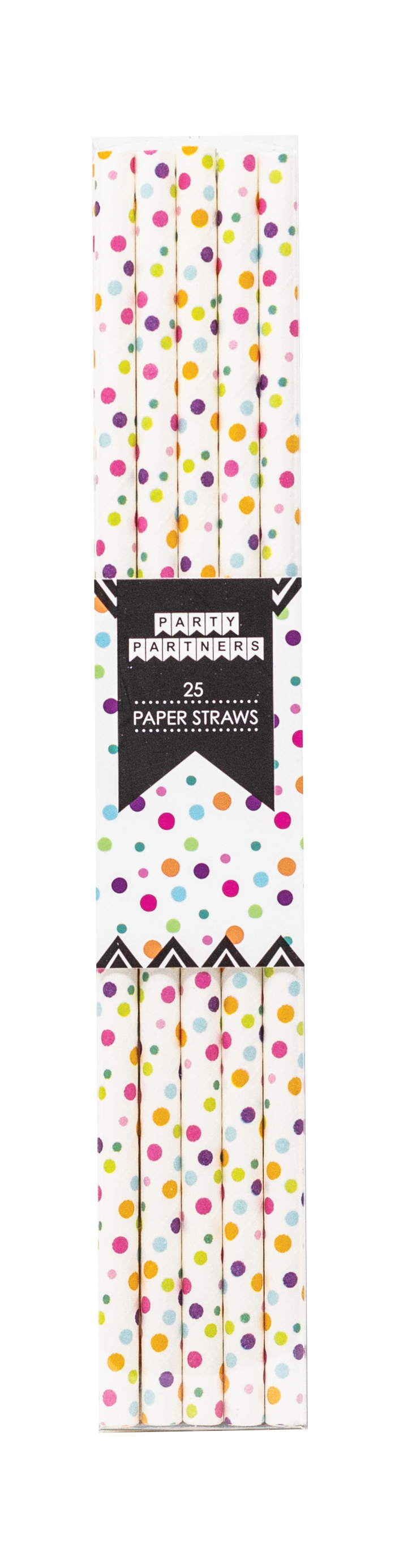 Rainbow Dots Paper Straws