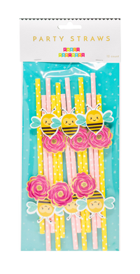 100% recyclable Cheerful Garden Deluxe Paper Straws Party Partners
