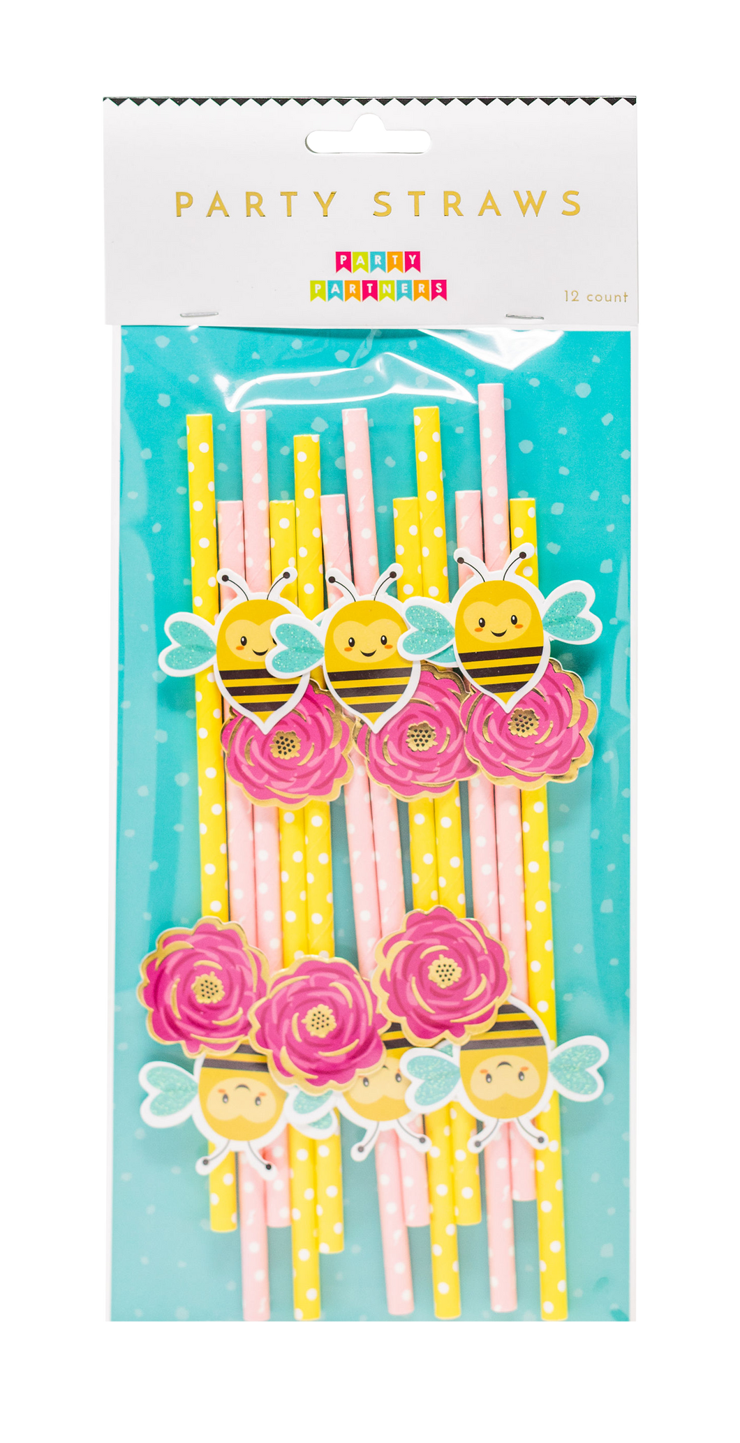 Cheerful Garden Deluxe Paper Straws