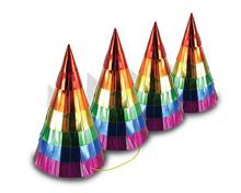 Rainbow Bling Party Hats Party Partners