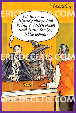 Bloody Mary Halloween Card Eric Decetis