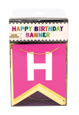 Bold and Bright Birthday Banner